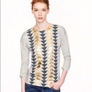 J.CREW   geometric foil sweatshirt